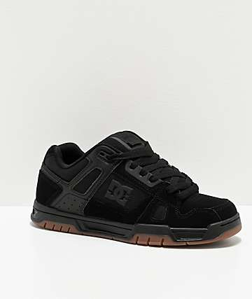 DC Stag Black & Gum Skate Shoes