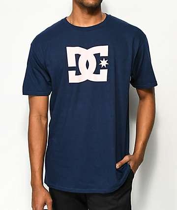 DC Star Navy & Pink T-Shirt