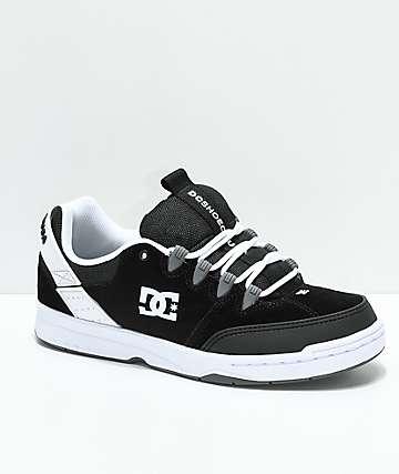 DC Syntax zapatos de skate en negro y blanco