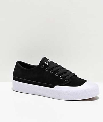 DC T-Funk Lo S Black & White Skate Shoes