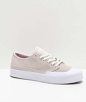 DC T-Funk Lo S White Skate Shoes