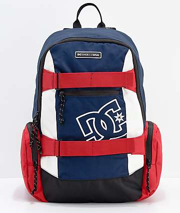 DC The Breed mochila mediana azul, rojo y blanco