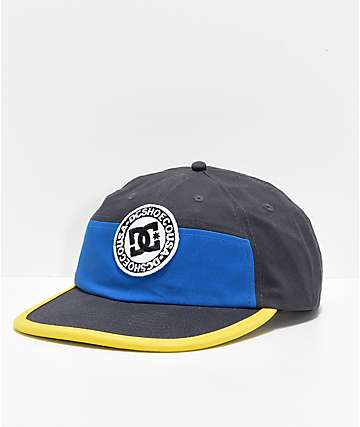 DC The Vial Black, Navy & Yellow Snapback Hat