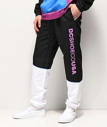 DC Tipton Black & White Track Pants