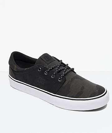 DC Trace TX SE Camo & Black Skate Shoes