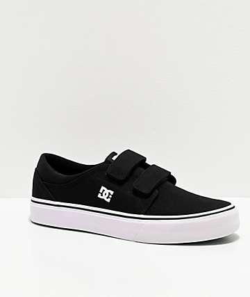 DC Trase V Black & White Skate Shoes