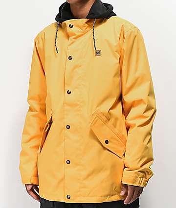 DC Union 10K chaqueta de snowboard dorada