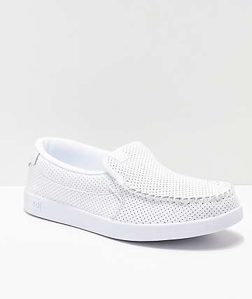 DC Villain Slip-On zapatos blancos