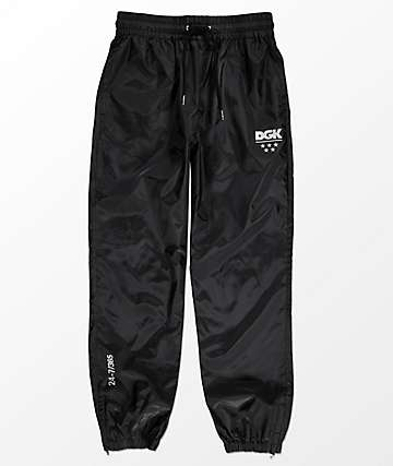 DGK 24\7 Black Windbreaker Pants