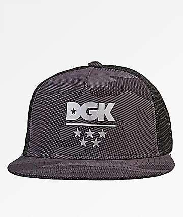 DGK Alpha Black Camo Trucker Hat