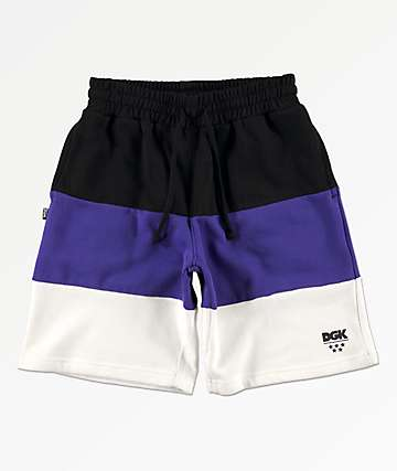 DGK Arena Black, Purple & White Sweat Shorts