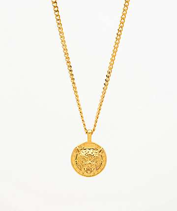 DGK Big Cat Gold Pendant Necklace