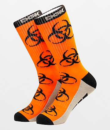 DGK Bio Hazard Orange Crew Socks