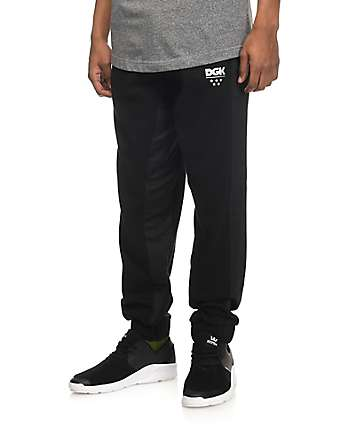 DGK Black Tech Fleece Pants