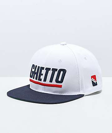 DGK Blaze Ghetto White Snapback Hat