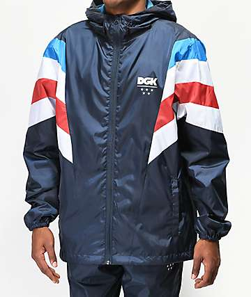 DGK Blaze Navy Blue Windbreaker Jacket