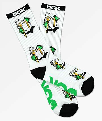 DGK Blessed White Crew Socks