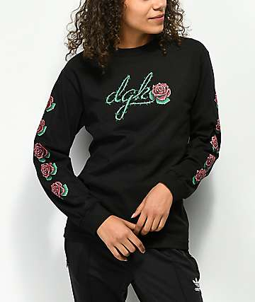 DGK Bloom Black Long Sleeve T-Shirt