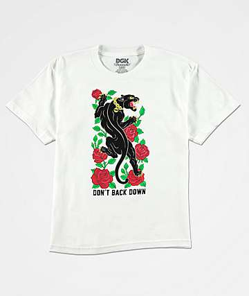DGK Boys Don't Back Down White T-Shirt