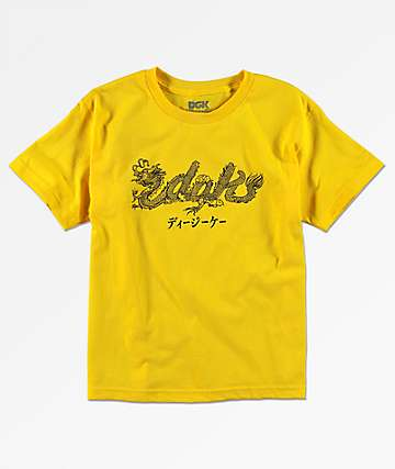 DGK Boys Dragon Yellow T-Shirt
