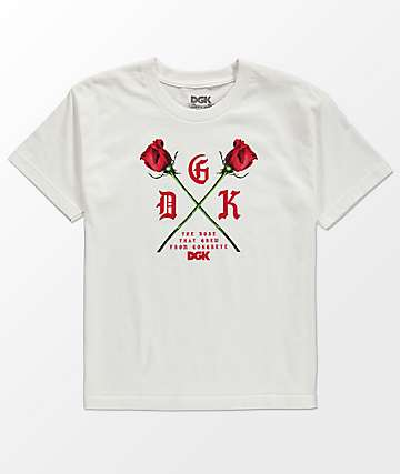 DGK Boys Growth White T-Shirt