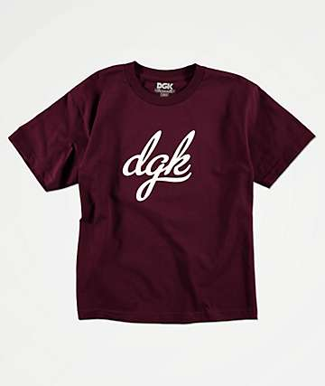 DGK Boys Script Burgundy T-Shirt