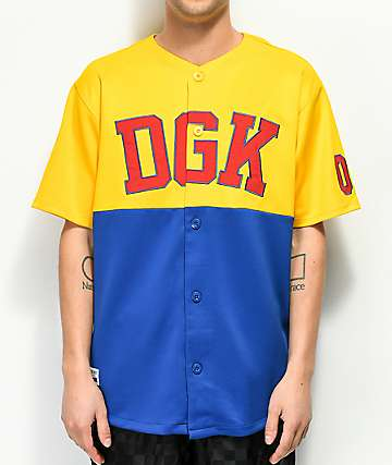 DGK Bullpen Yellow & Blue Baseball Jersey