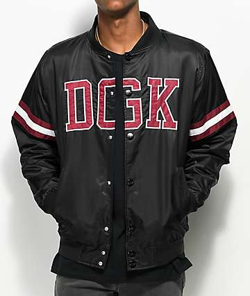 DGK Champ Black & Burgundy Bomber Jacket