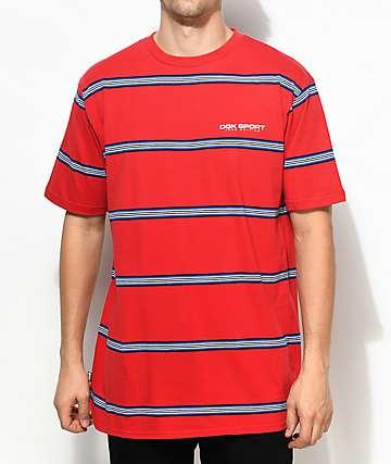 DGK Dash camiseta a rayas en rojo, blanco y azul