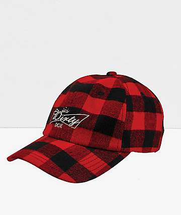 DGK Dirty Red Plaid Strapback Hat