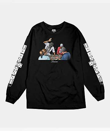 DGK Domino Black Long Sleeve T-Shirt