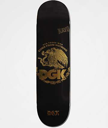 "DGK Familia Black & Gold Foil 8.25"" Skateboard Deck"