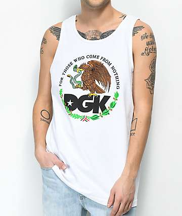 DGK Familia White Tank Top