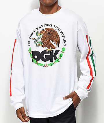 DGK Familia camiseta blanca de manga larga