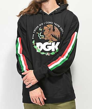 DGK Familia sudadera con capucha negra