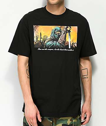 DGK Fear Not camiseta negra