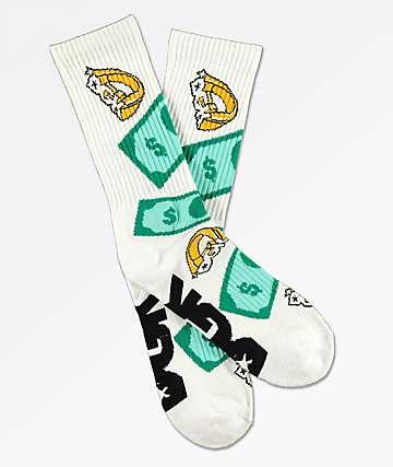 DGK Festive White Crew Socks