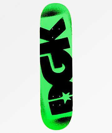 "DGK Florescent Green Logo 8.06"" Skateboard Deck"