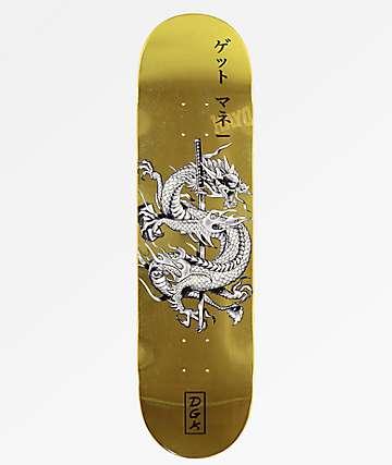 """DGK Get Money Gold 8.25"""" Skateboard Deck"""