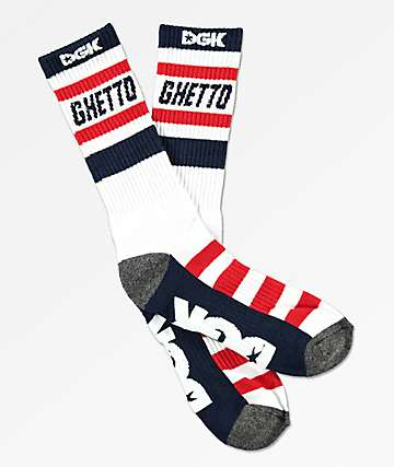 DGK Ghetto Red, White & Blue Crew Socks
