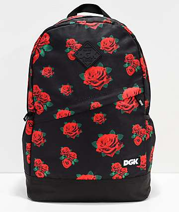 DGK Growth Black & Floral Backpack