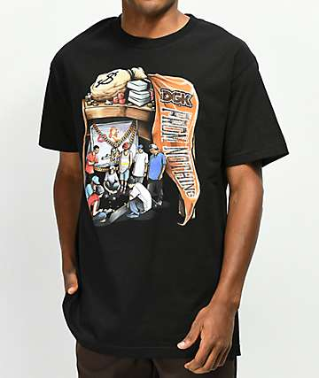 DGK Hard Knocks camiseta negra