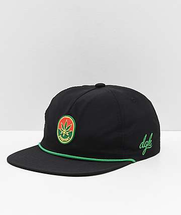 DGK Harvest Black & Green Snapback Hat