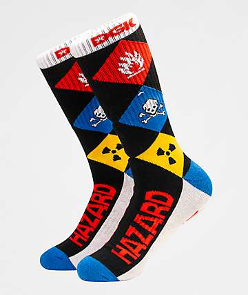 DGK Hazardous Black Crew Socks