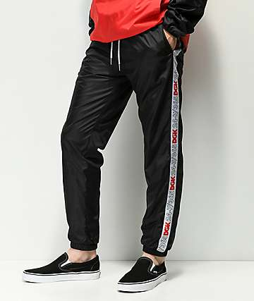 DGK Heritage Taped Black Track Pants