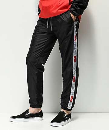 DGK Heritage Taped pantalones de chándal en negro