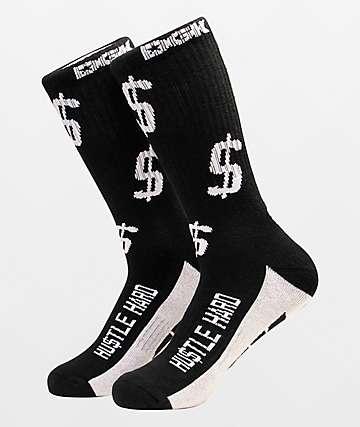 DGK Hustle Hard Black & White Crew Socks
