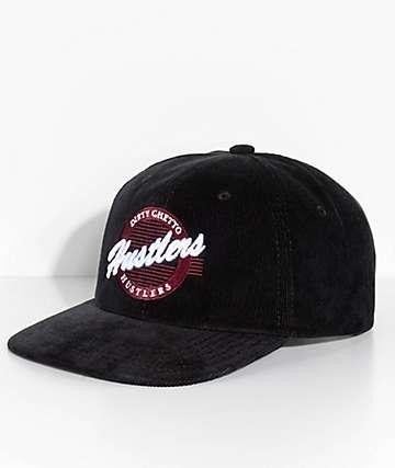 DGK Hustlers Black Corduroy Snapback Hat
