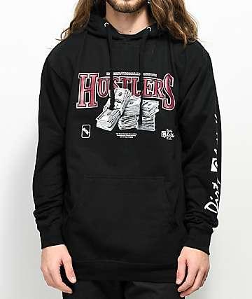 DGK Hustlers Black Half Zip Hoodie