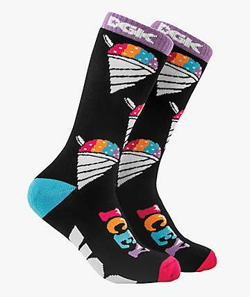 DGK Icey Black Crew Socks